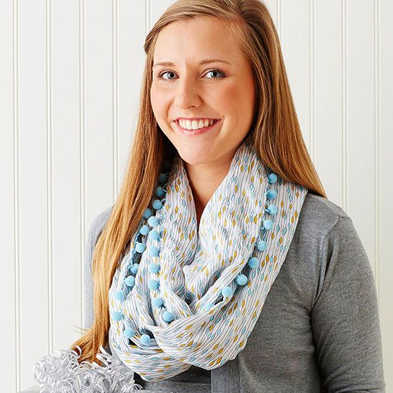 If your friend is a fashionista, she'll love this pretty fringe scarf for her Ch...