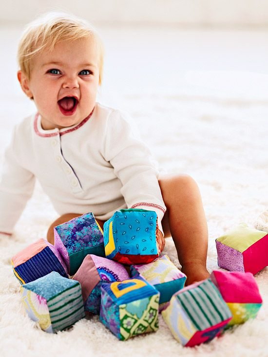 Is there a little one in your family? A set of handmade Fabric Blocks may be the...