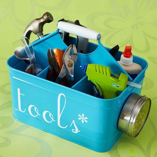 Make your home a more organized space by employing caddies to hold everything fr...