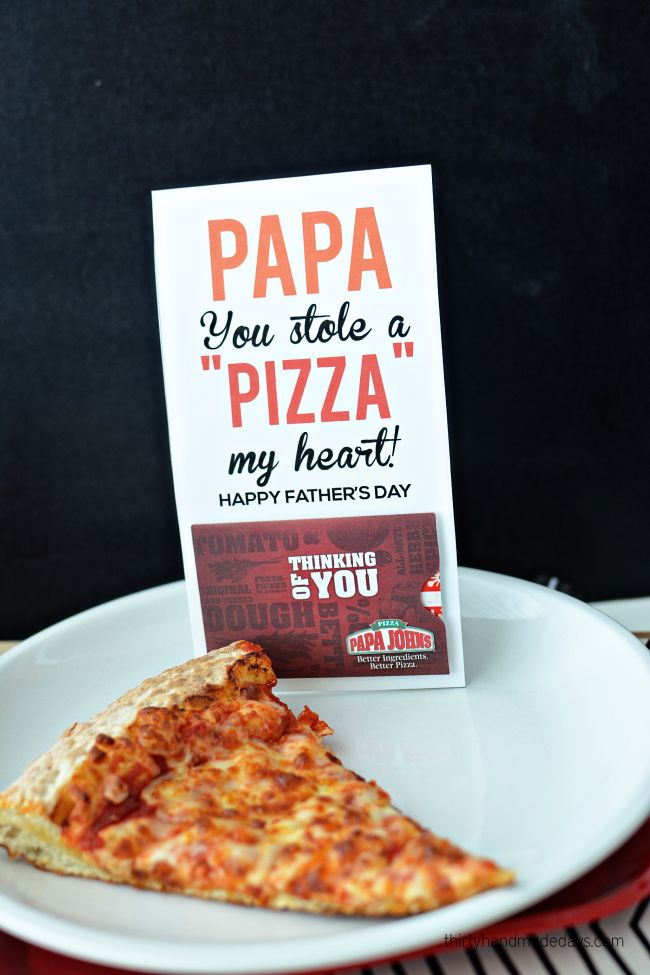 Papa You Stole A Pizza My Heart Fun Father S Day Gift From Thirtyhandmadeday