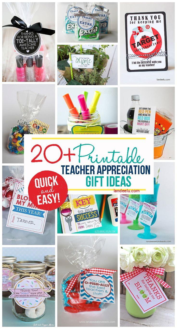 Quick And Easy FREE Printable Little Gifts For Teachers Perfect A DIY Teac