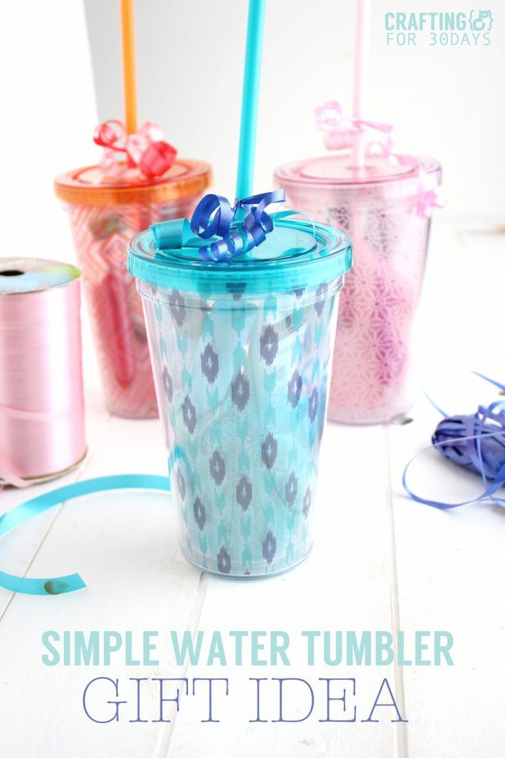 22641c00c0d DIY Gifts : Simple Water Tumbler Gift Idea - perfect for Mother's ...