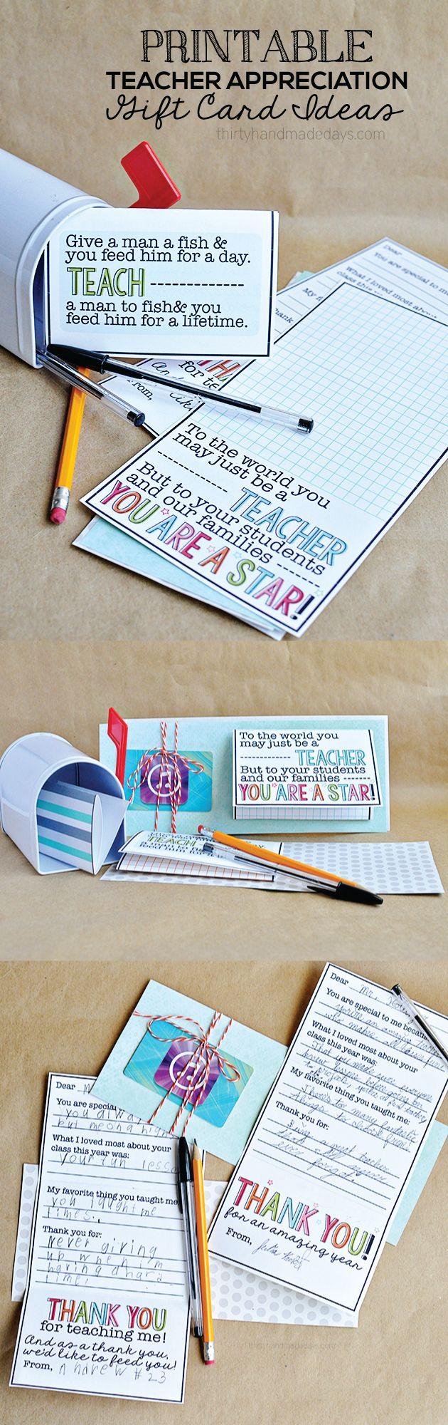 Diy Gifts Teacher Appreciation Gift Idea Print This Gift Card
