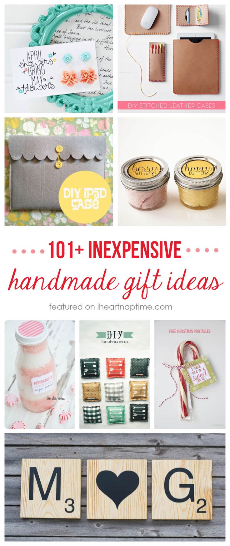 DIY Gifts : Today I\'ve rounded up 101 inexpensive handmade Christmas ...