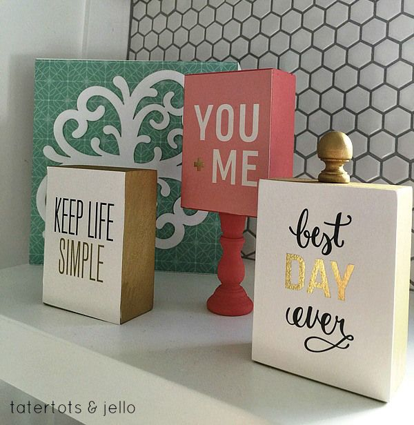 Diy Gifts Wood Block Gift Idea Perfect Gift Idea Or Easy Craft
