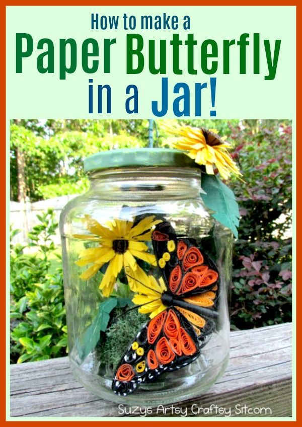 Learn how to make a Paper Butterfly in a Jar! Easy tutorial!