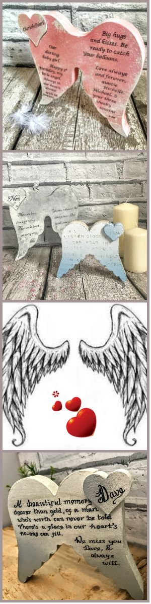 Personalised Gifts : Angel wings Pet