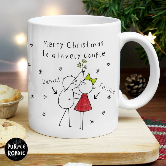 Personalised Gifts Ideas Personalised Christmas Couples Mug