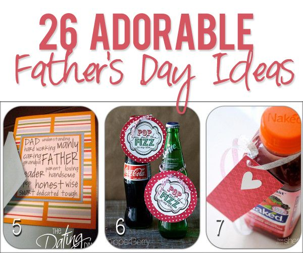 DIY Gifts : 26 Adorable Father's Day