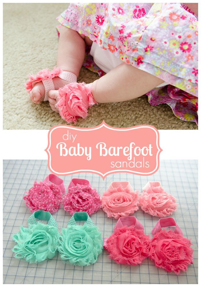 DIY Baby Barefoot Sandals tutorial and free pattern. These are always a hit baby...