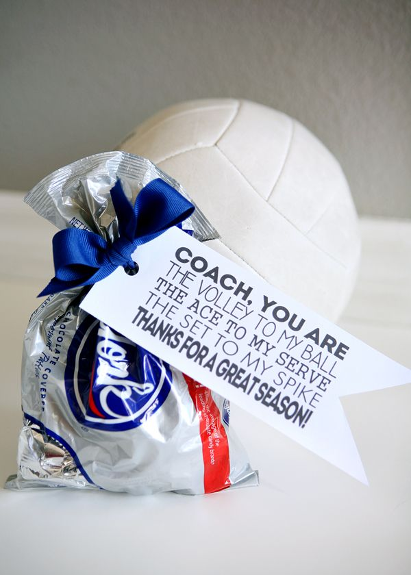 Diy Gifts Volleyball Coach Gift Tags Free Printable My