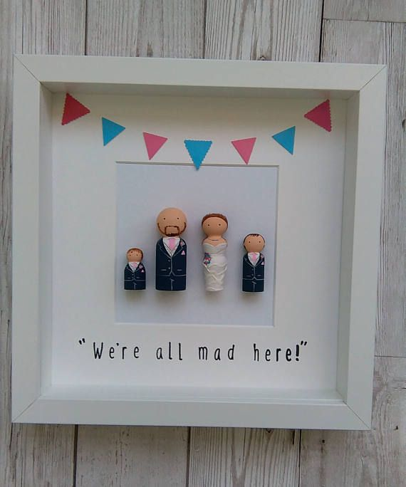 Personalised Gifts Ideas Framed Peg Dolls Personalised