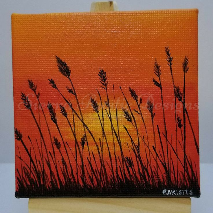 personalised gifts ideas mini sunset painting this is an original
