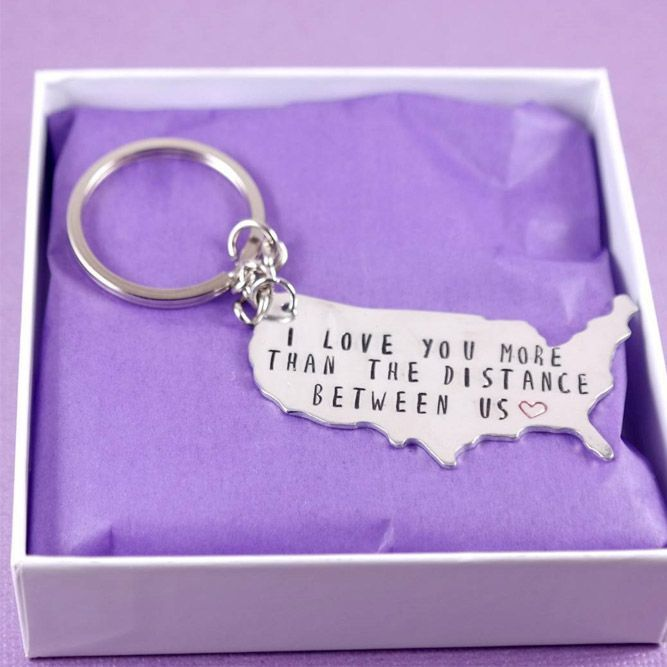 A Keychain Gift Idea Discover Cute And Fun Long Distance Relationship
