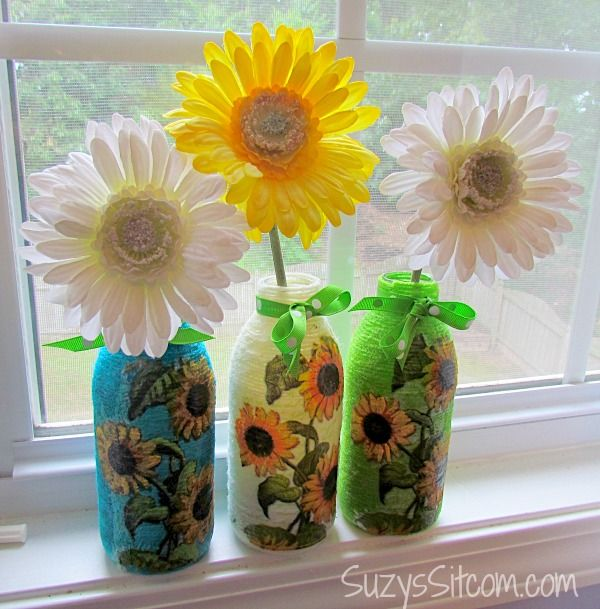 Make something amazing with recycled bottles!