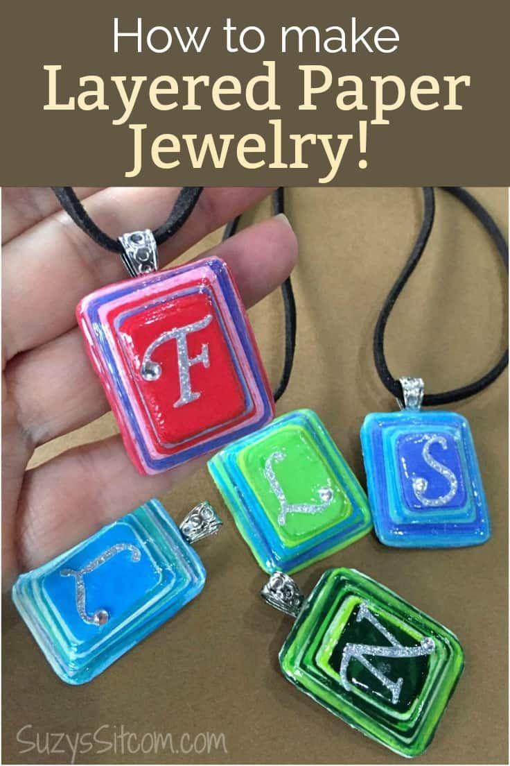 Handmade Gift Idea: How to Make Layered Paper Jewelry | Kenarry