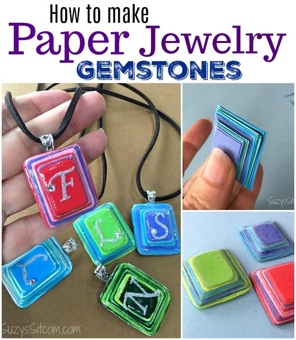Make a gift: How to make Paper Jewelry Gemstones!