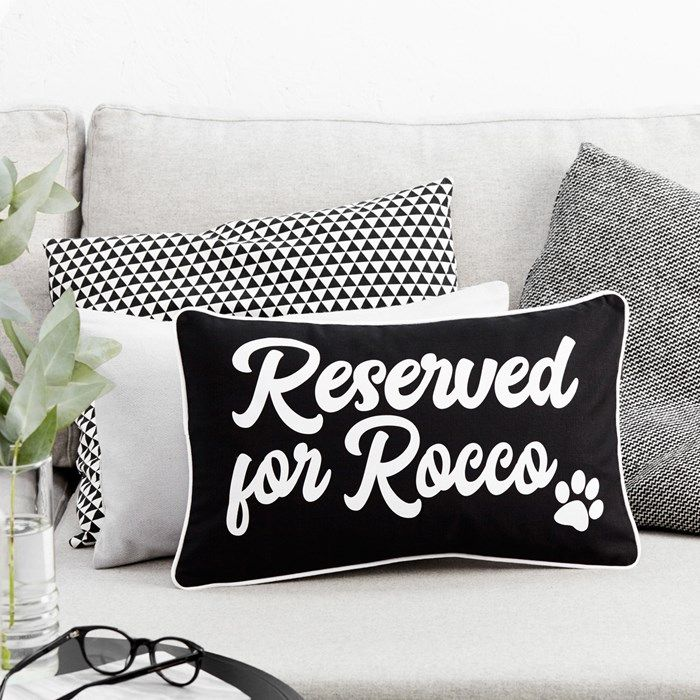 Personalised Boudoir Cushion - Reserved For Pet | GettingPersonal.c...