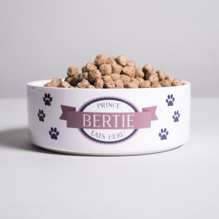 Personalised Pet Bowl - Blue Paws | GettingPersonal.c...