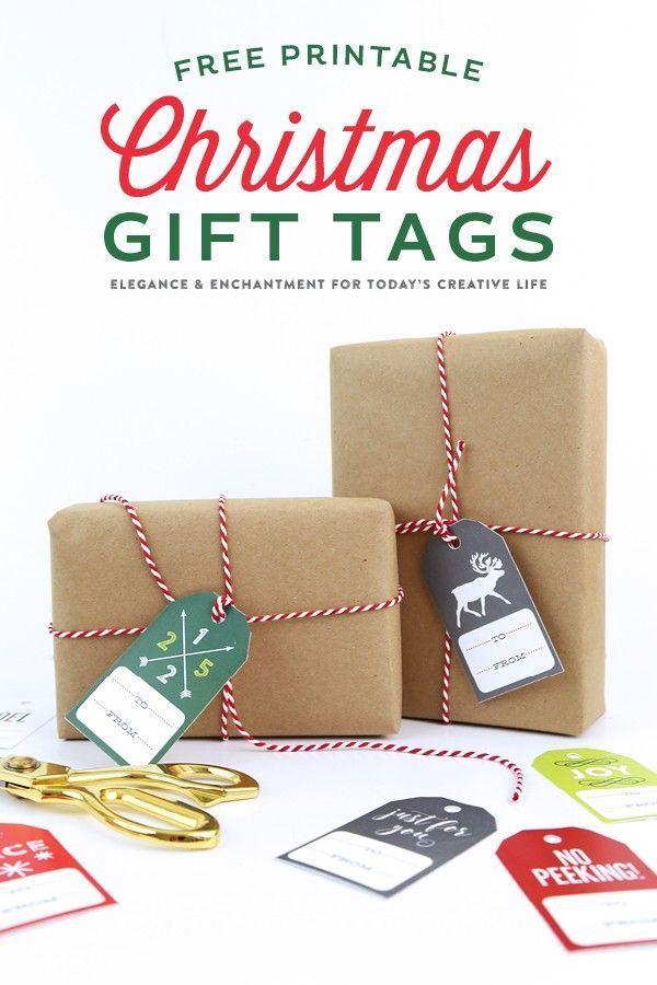 Diy Gifts Free Printable Christmas Gift Tags Gift