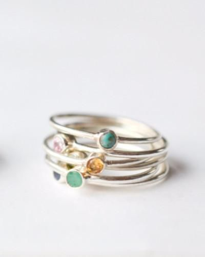 Birthstone Stacking Rings - Build A Stack!These birthstone rings are a great way...