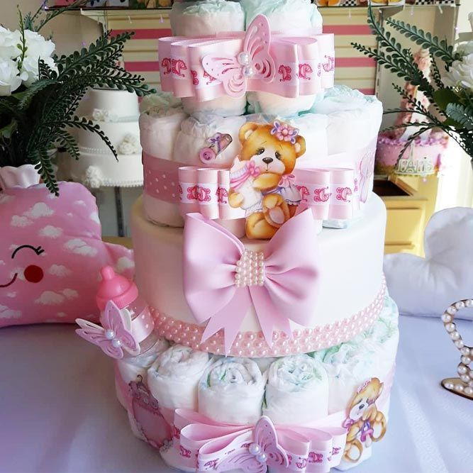 Birthday Gifts DIY Diaper Cakes Diapercake Unique Creative And Practical Ideas Of Baby S
