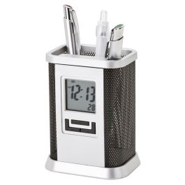 Desktop Pen Stand with Alarm Clock | Corporate Gifts - www.ignitionmarke...