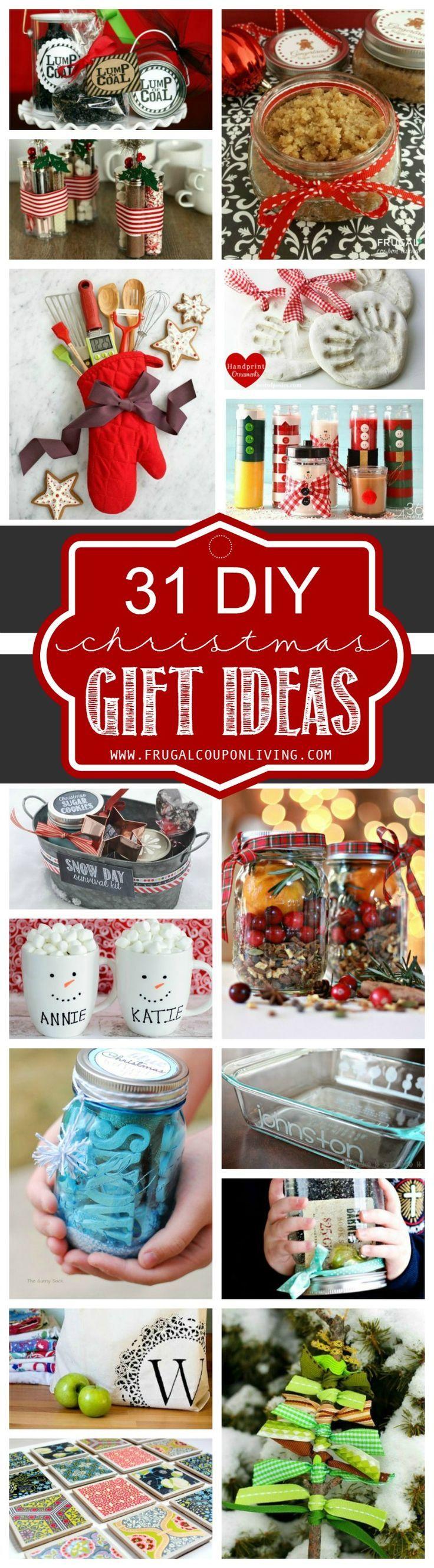 31 DIY Christmas Gift Ideas on Frugal Coupon Living. Homemade Christmas Gift Ide...