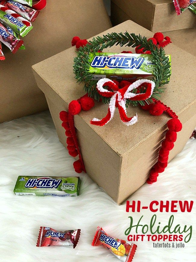 HI CHEW Holiday Gift Toppers. Make your gifts even SWEETER with these DIY candy ...