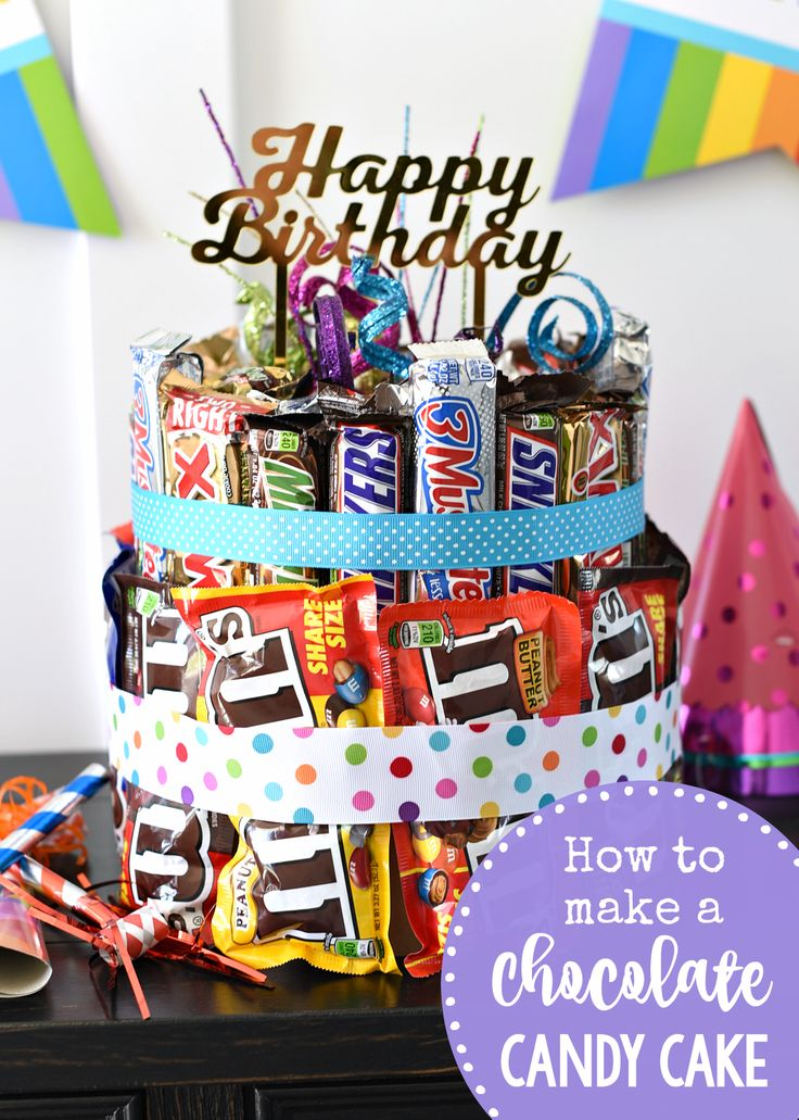 How to Make a Chocolate Candy Cake-This is the best birthday gift ever for someo...