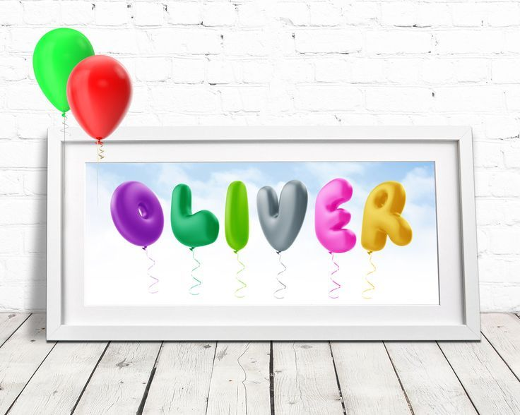 Balloon Alphabet / Childrens Name Art / Baby Room Decor / Personalised Baby Gift...