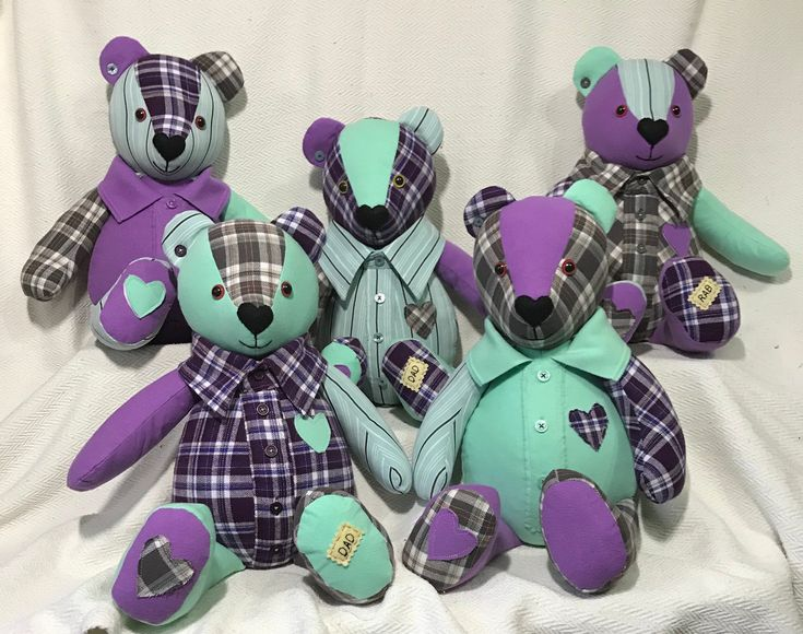 Beautiful custom handcrafted Memory Bears are made using your loved ones preciou...