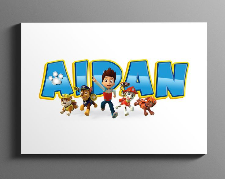 Paw Patrol Name Art / Baby Name Sign / Personalised Name Art / Paw Patrol / Nurs...