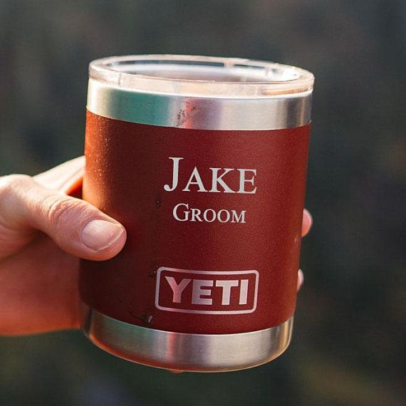 Personalized Red YETI Rambler Tumbler LOWBALL, 10oz, Stainless Steel - Personali...