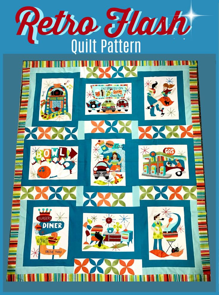 Join the Retro Flash Sew Along!  Free quilt block patterns available each month....