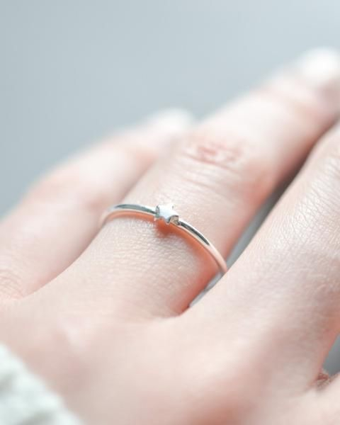 This 925 sterling silver star Stackable ring looks great on its own or in a stac...