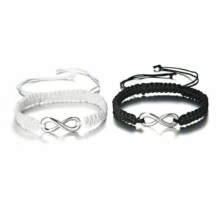 2pcs Infinity Bracelet Couple Friendship Best Friends Sister Love His and Hers #...
