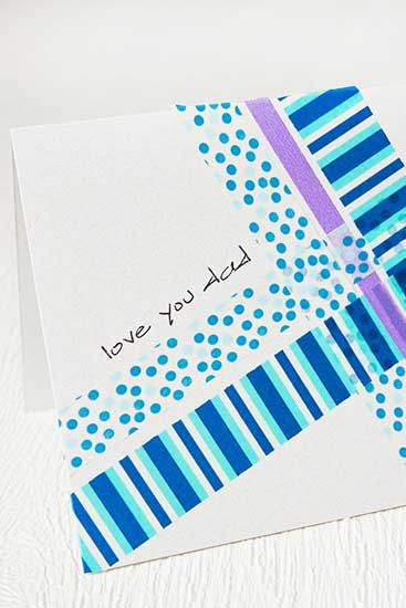 Stripes of colorful washi tape are all you need to create a stunning Father's Da...