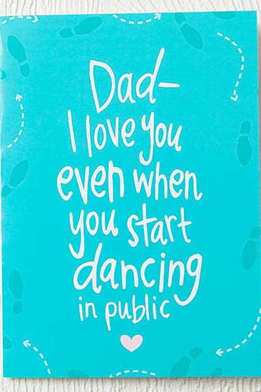 This footloose card is perfect for the dad who dances through life! #fathersdayi...