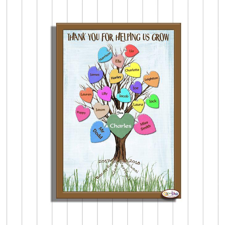 Class keepsake, Printable Teacher Gift, Teaching Assistant Gift, Children's Clas...