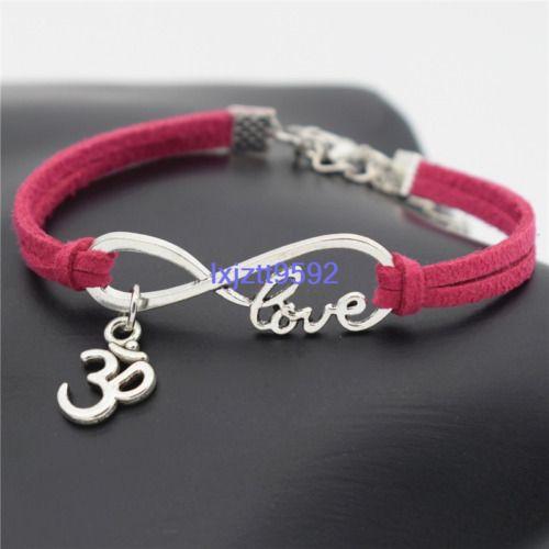 1pc Yoga OM Symbol Infinity Bracelet Meditation Pilates Love Dream Bohemian Boho...