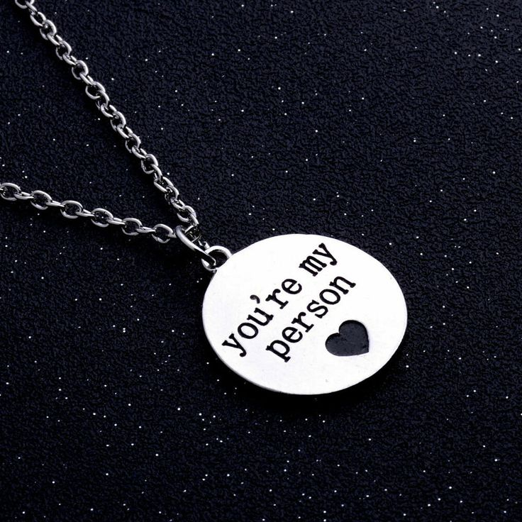 You're My Person Necklace Heart Love Couple Best Friends Sisters Friendship BFF ...