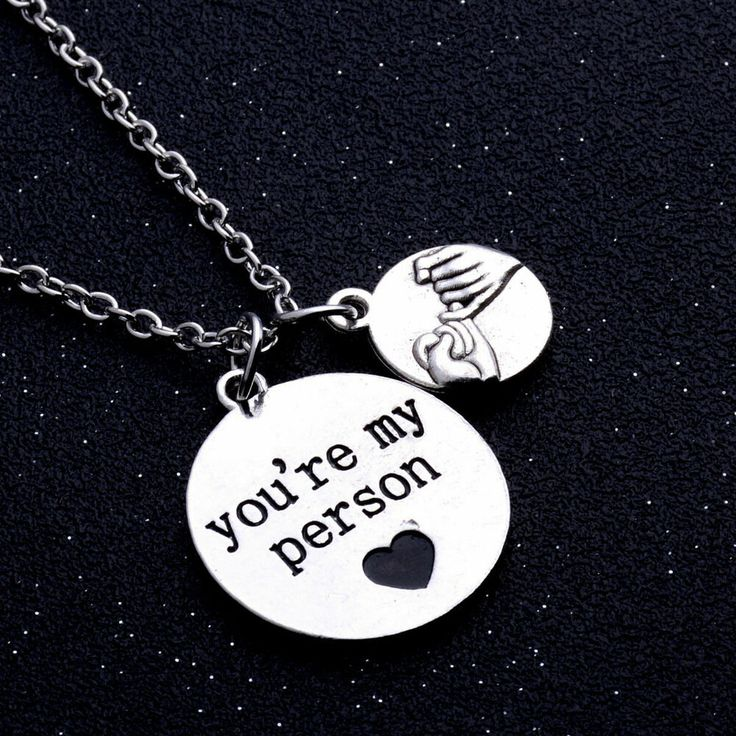 You're My Person Pinky Promise Swear Necklace Heart Love Couple Best Friends BFF...