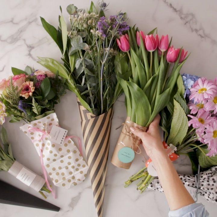 7 Stunning DIY Bouquet Wraps