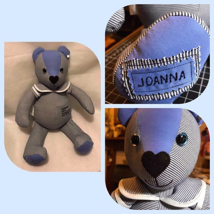 Keepsake Teddy Bear made from precious clothes, a unique personalised treasure. ...