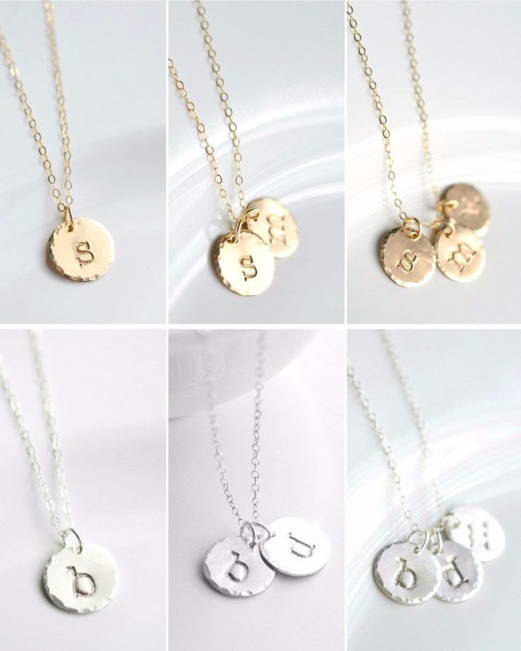 Simple Gold and Silver Initial Necklace. Use it to keep your loved ones close as...