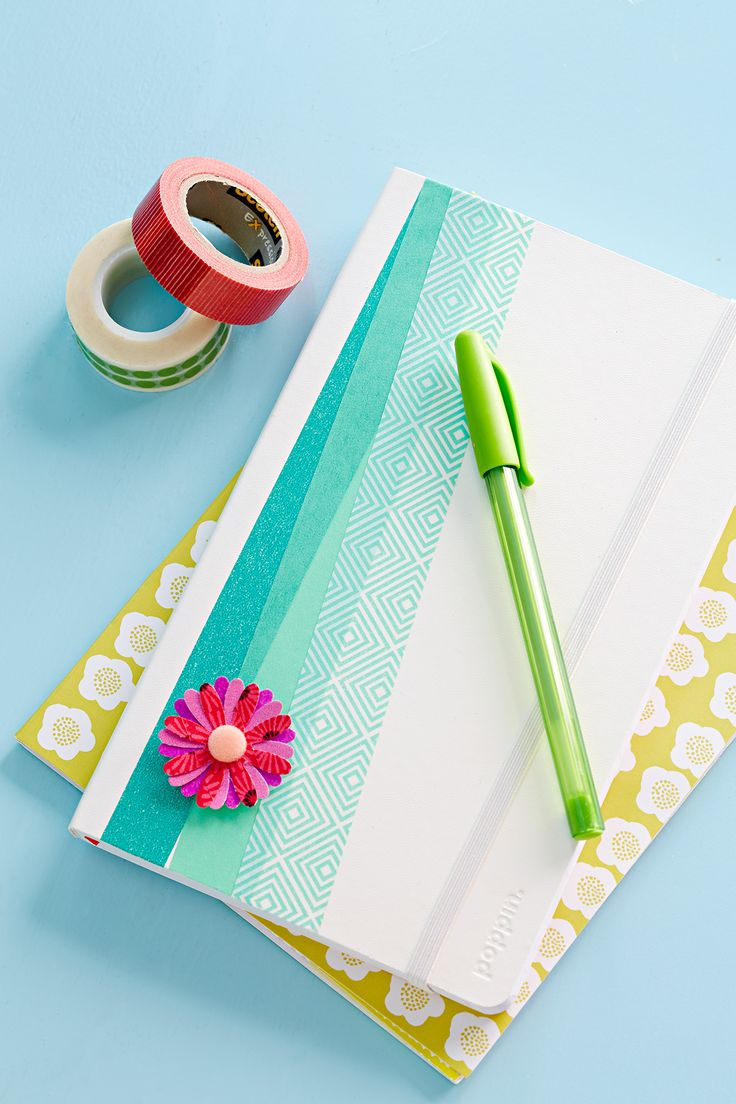Everyone could use a journal, especially one as pretty as this. The trick? Washi...