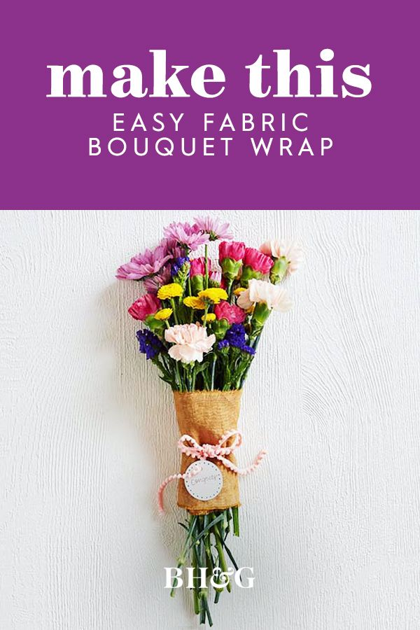 This rustic wrap really is as easy as it looks! Simply trim your fabric, roll, a...