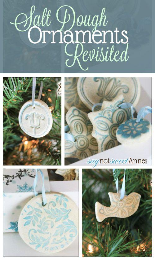 Beautiful Easy Salt Dough Ornaments - great for kids! | Saynotsweetanne.com