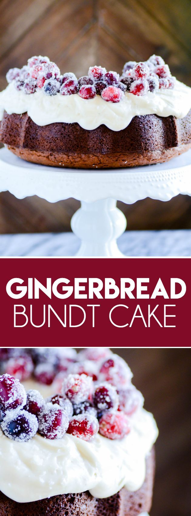 Gingerbread Bundt Cake with Cream Cheese Frosting www.somethingswan...